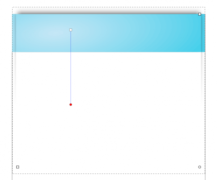 Web page with drop shadow.
