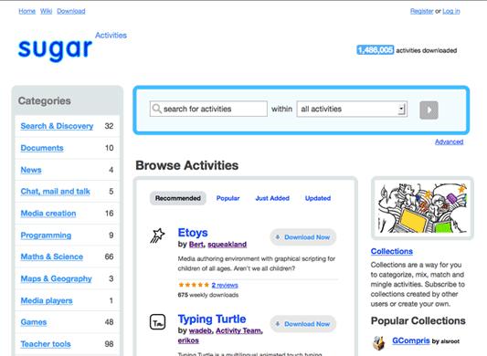 sugar labs website design project